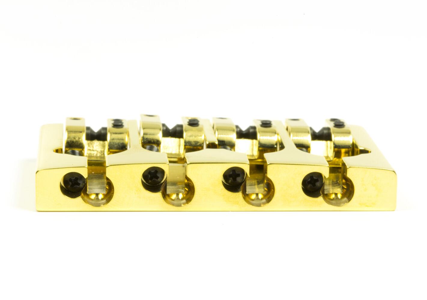 Hipshot Hipshot Hipshot un estilo 4 String Bass puente de latón, oro, las modificaciones 5 agujero Fender 18b9ed
