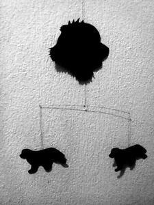 Neufundländer Mobile schwarze Silhouette Kopf Zimmer oder Fenster *Handarbeit - Deutschland - Neufundländer Mobile schwarze Silhouette Kopf Zimmer oder Fenster *Handarbeit - Deutschland