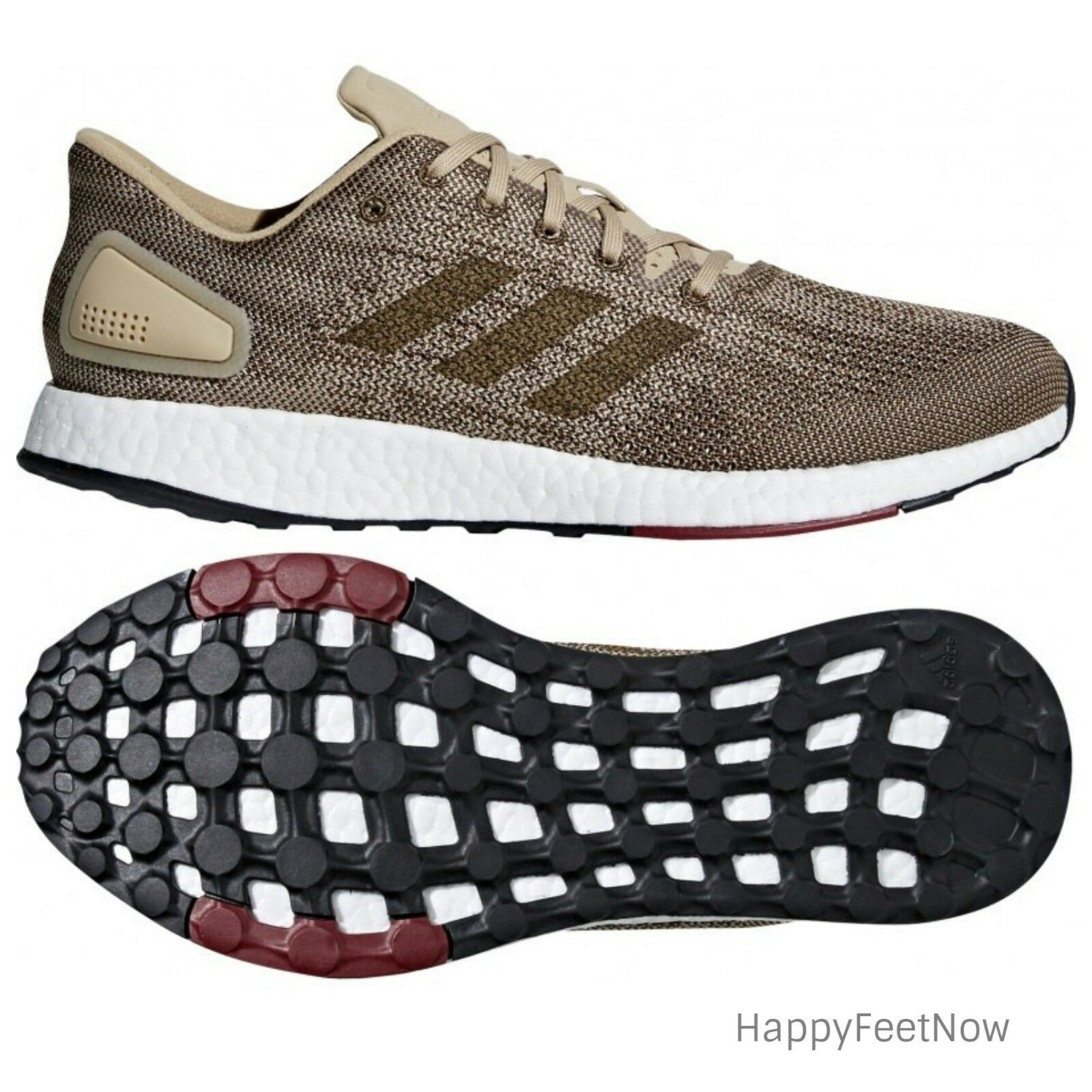 0afafa822165 ADIDAS PUREBOOST DPR RUNNING SHOES MEN S SIZE US 11 11 11 KHAKI BROWN  BB6292 3f1a44