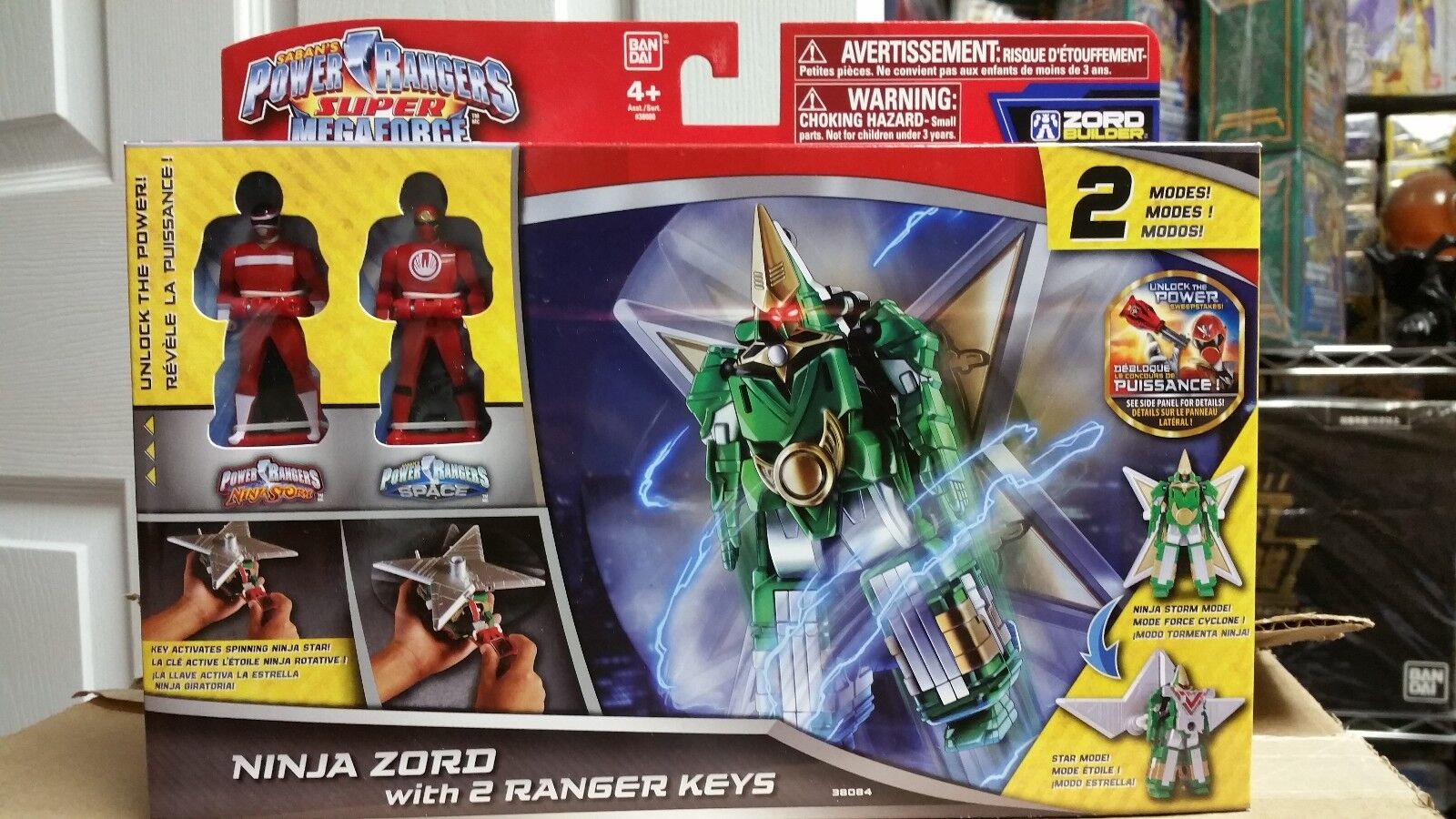 Power rangers super megaforce ninja zord mit 2 rangers schlüssel misb