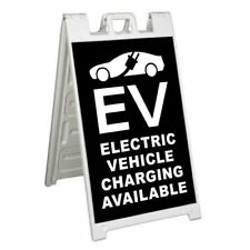 Electric Vehicle Charging Signicade 24x36 Aframe Sidewalk Sign Banner Decal