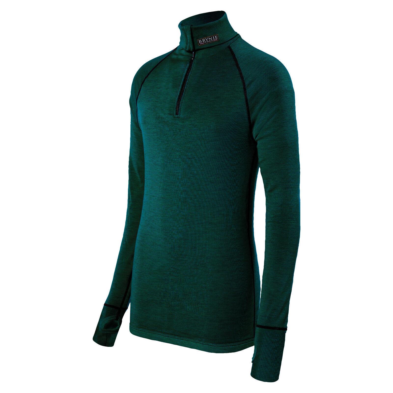 Brynje Zip-Poloshirt Shirt Arctic Unterwäsche Unterhemd wärmeisolierend oliv