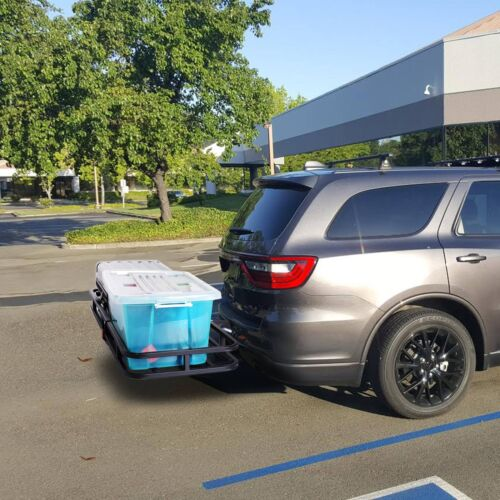"""New Steel Cargo Carrier Luggage Basket 2/"""" Receiver Hitch Hauler 500LBS"""