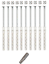 10-St-10x160-Rahmendubel-Fensterrahmendubel-Dubel-Senkkopf-Torx-40-incl-Bit-S miniature 1