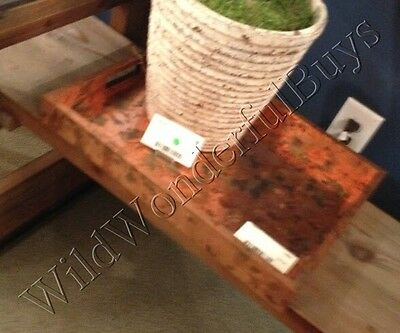 Copper Distressed Serving Tray Home Decor Coffee Table Accent Oxidized Metal New