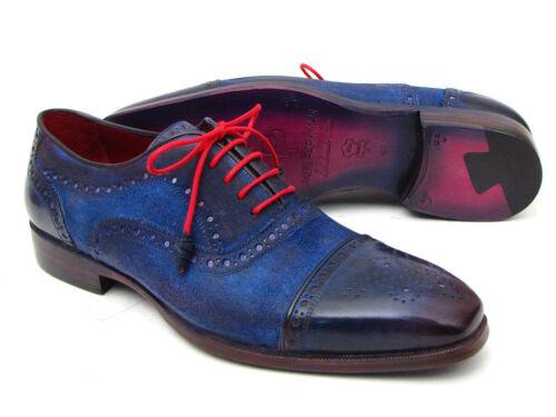 Captoe Oxfords blusd Suedeid024 Paul Parkman Blue Homme sohQrdxBtC