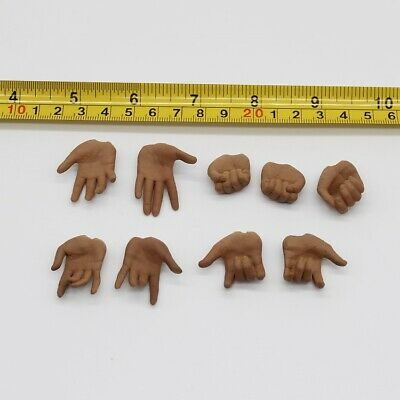 9pcs 1//6 Female Hand Types Hand Models For 12/'/' PHICEN Action Figure  Brown