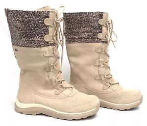 8b11662f8c Image is loading UGG-Australia-ATLASON-FRILL-Cream-Waterproof-Metallic -TOSCANA-