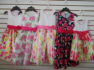 Industrieux Enfant & Filles Princesse Américaine Floral Robes Taille 4 T - 12-afficher Le Titre D'origine Artisanat D'Art