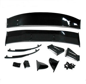 1-10-Racing-Car-RC-Body-Shell-Cover-Touring-Rear-Wing-Set-Spoiler-Black