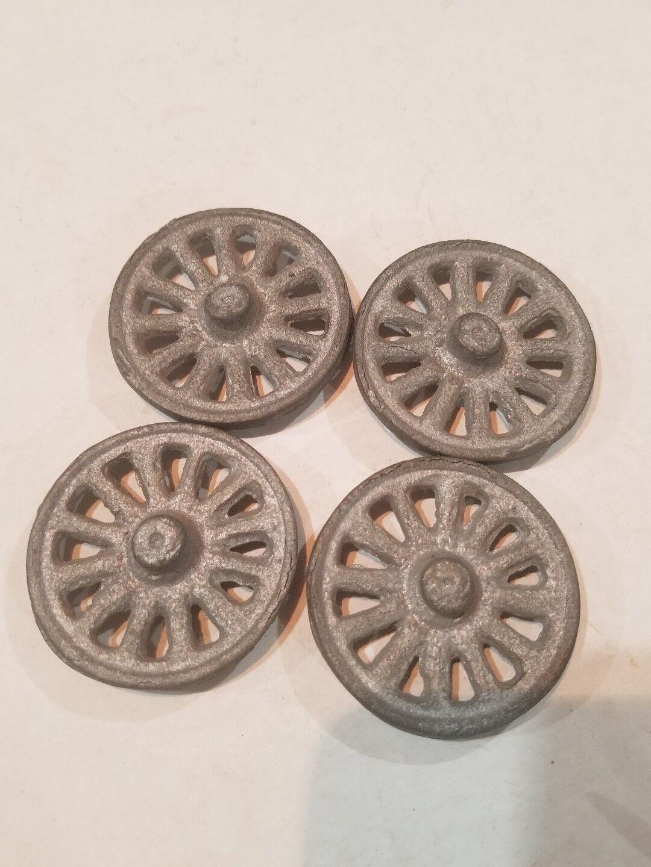Kenton Hubley Arcade replacement  2 1 8  cast iron spoke wheel SET OF 4