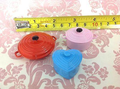 Miniature Dollhouse Home/Kitchen/Restaurant 3 Color Metal Cooking Pot w/ Lid1:12