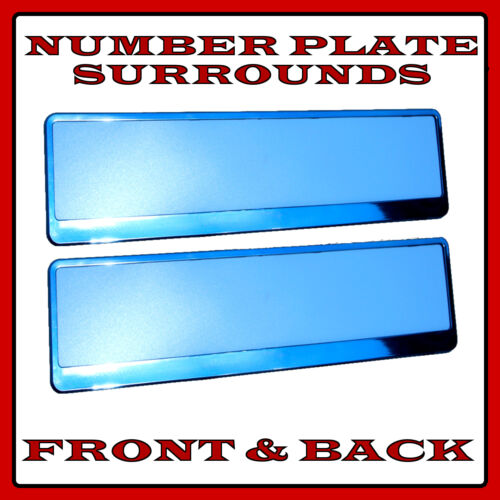2x Number Plate Surrounds Holder Chrome for Ford Fiesta MK6