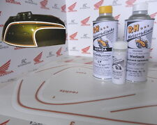 Honda CB 350 Four Lacksatz Lack Set Candy Bacchus Olive+ Tankzierstreifen Orange