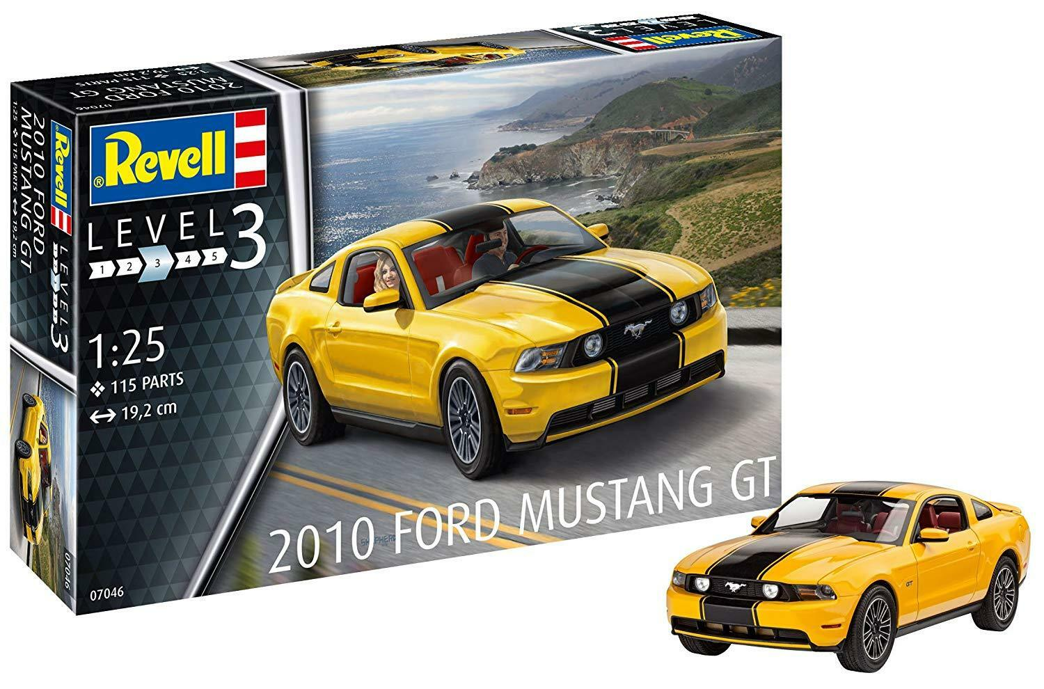 2010 Ford Mustang Gt, Revell Auto Modelo Equipo 07046