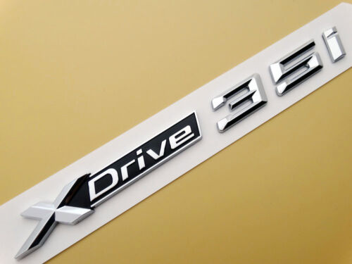 XDrive 35i Emblem Badge Decal Car Trunk Sticker BMW X4 X5 X6 F26 F25 F16 E70 SUV
