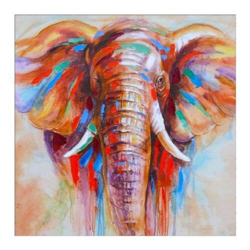 Running Elephant 5D DIY Diamond Painting Embroidery Needlework Cross Stitch Art