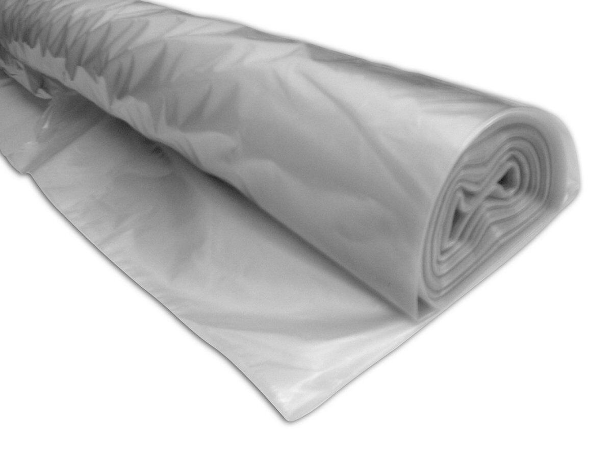 Clear Builders Polythene Plastic Sheeting Roll Dust Sheet TPS 4m x 25m