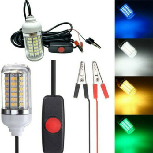 12V LED Underwater Submersible Night Fishing Light Boat Crappie Shad Squid Lamp