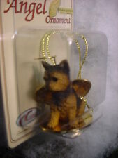 YORKIE puppy DOG ANGEL Ornament HANDPAINTED FIGURINE Christmas YORKSHIRE TERRIER