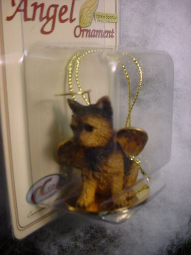 YORKIE puppy DOG ANGEL Ornament Figurine Statue NEW Christmas YORKSHIRE TERRIER