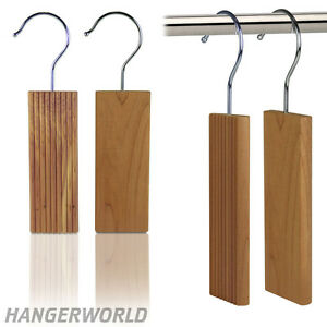 Hangerworld 6 Cedar Wood Ridged Plain Moth Blocks Insect Repellent Clothes Ebay