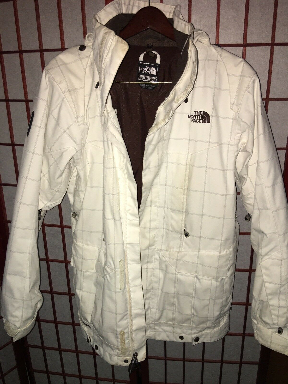 The North Face Gravitation Triclimate Coat, White Plaid, Medium + TNF Extras
