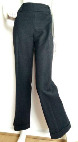 usati London 8 vita volta Taglia Charcial alta a Una Hobbs Pantaloni lana Grigio 100 wxBz4qYtY