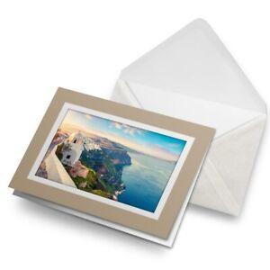 Greetings-Card-Biege-Santorini-Greece-Travel-Fun-2509