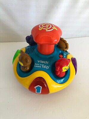 VTECH SPIN 'N LEARN TOP LEARNING TEACHING TOY ANIMALS ...