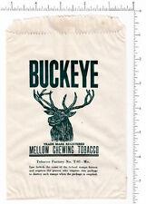 4020 Buckeye Chewing Tobacco 1930's ? bag deer elk Factory No. T-93 MO