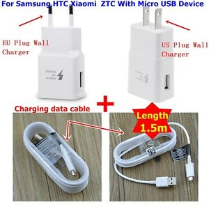 2A-US-EU-Plug-Home-Travel-Wall-Charger-Power-Adapter-Fast-Charging-USB-Cable