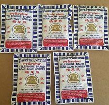 5 pack Agar Agar Powder - Telephone Brand  - ships from USA
