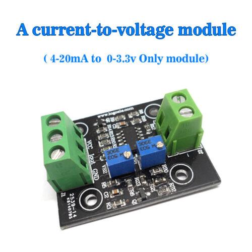 Current to Voltage 4-20mA Transfer 0-3.3V Conversion Sensor Module Board USA