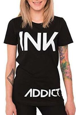 BRAND NEW InkAddict WOMENS NEW TAN Tank Top BLACK WHITE XSMALL-2XLARGE TATTOO
