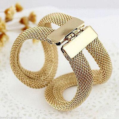 Women's Elegant Charming Wide Pierced Cuff Costume Jewelry Bangles Bracelets