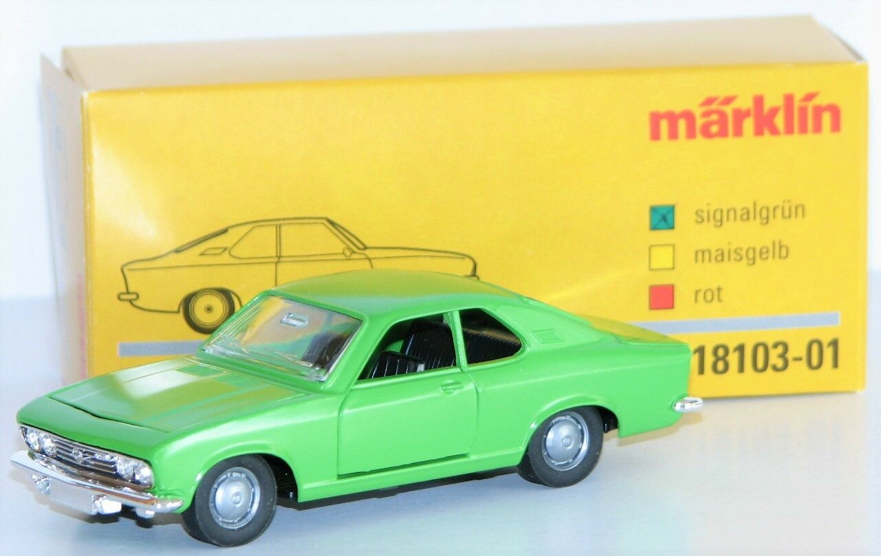 Märklin 1 43 18103-01 Opel Manta a Made of Metal in Signal Green - New + Ovp