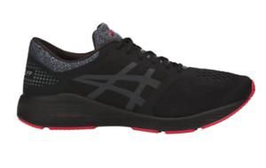 ASICS New Men's RoadHawk FF Road Running Shoes BLACK/CARBON Authentic