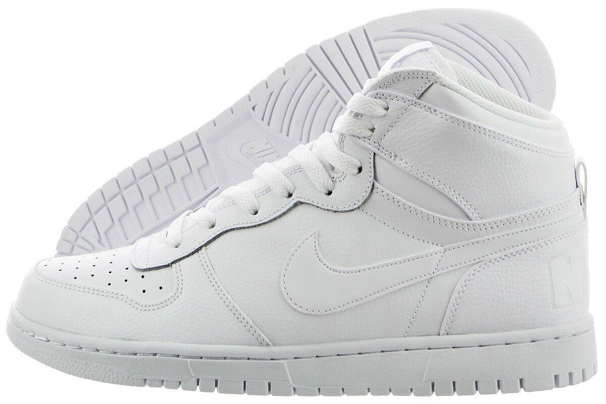 Nike Men's BIG NIKE HIGH Basketball Shoes White 336608-119 a