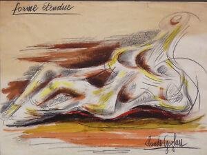Claude-Gozlan-1930-Form-Gedehnt-Technique-Gemischt-Schueler-von-Salvador-Dali