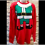 thumbnail 2 - H & M Divided Womens Christmas Sweater XS Red Elf Ugly Christmas Sweater