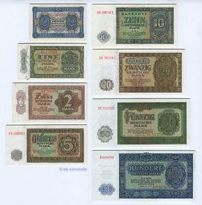 Satz-1948-DDR-50-Pf-100-Mark-fast-KASSENFRISCH