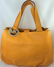 New Michael Kors MK Fulton LG Leather EW Tote Shoulder Bag Purse Handbag Yellow