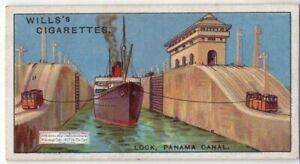 Ship-Locks-Panama-Canal-Central-America-90-Y-O-Ad-Trade-Card