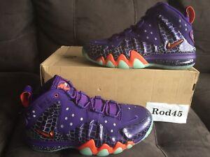 40eecb641dbc Image is loading Nike-Barkley-Posite-Max-Foamposite-Court-Purple-Orange-