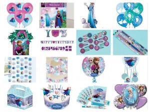 Disney-Frozen-Enfants-Fete-D-039-Anniversaire-Decorations-Plaques-Tasses-Serviettes-Banniere