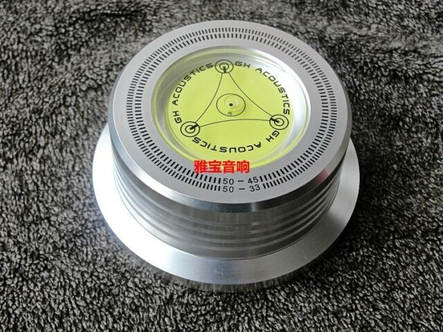 3 In 1 Record Clamp LP Disc Stabilizer Turntable Silver