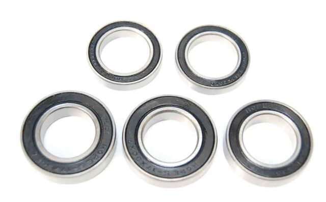 Pack of 2 6802 61802 15x24x5mm 2RS Thin Section Deep Groove Ball Bearing