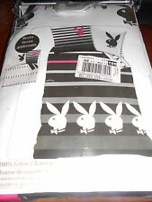 """PLAYBOY """"stripes"""" parure de lit housse de couette + taie 1 personne - neuve"""