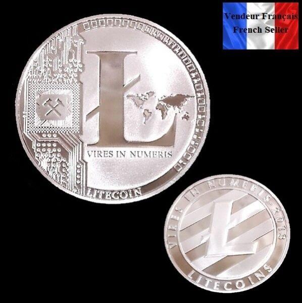 1 Pièce Plaquée Argent ( Silver Plated Coin ) - Litecoin Ltc ( Ref 5 )